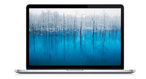 MacBook Pro Retinaディスプレイはキャリブレーションが不要。正しい色を表示できる