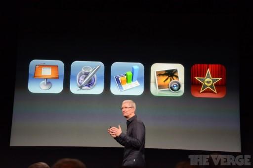 Apple、iWork及びiPhoto, iMovie を新規デバイス購入者に無償提供