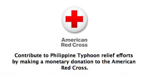 Appleがフィリピン台風募金を受け付けています