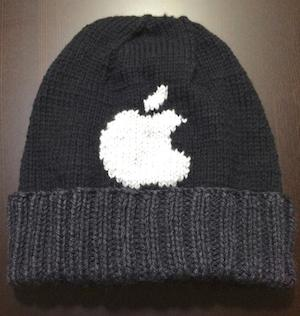 漫画家・野間美由紀先生による手作りAppleロゴニット帽がナイスな件