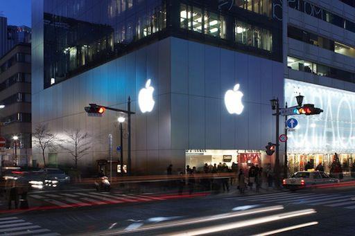 Apple Store銀座は今日もいい風が吹いていました