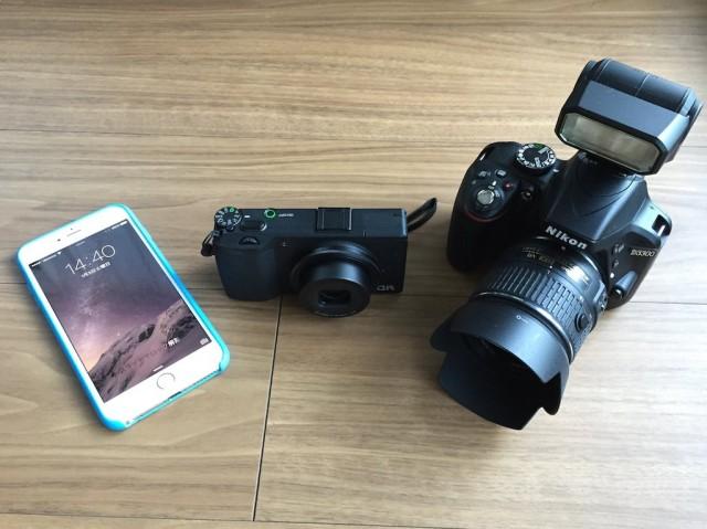 2015年私が愛用するカメラはiPhone 6 Plus・GR・D3300です。