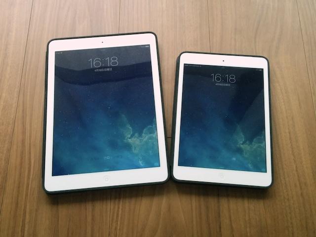 iPad のSmart Caseが使いやすい。Air も miniも。