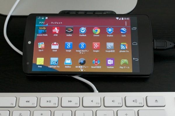 Nexus 5にOTGケーブルを利用して外付USBキーボードをつなぐ(マウスも)