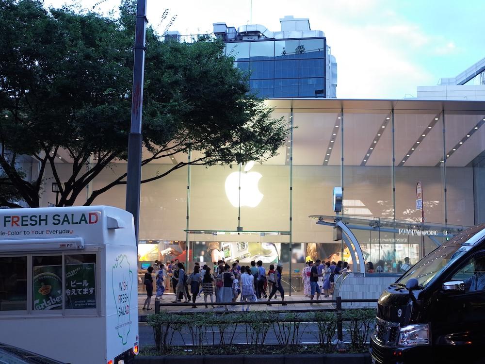 Apple Store表参道にいってきました (^ー゜)