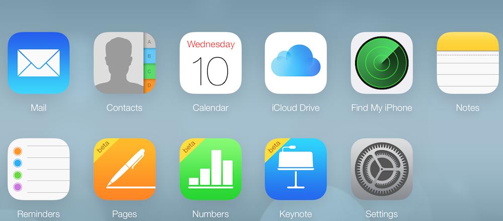 iCloudベータにiCloud Driveのアイコンが登場