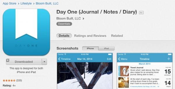 iPhone・iPad用日記アプリ「Day One」が特価200円にて販売中