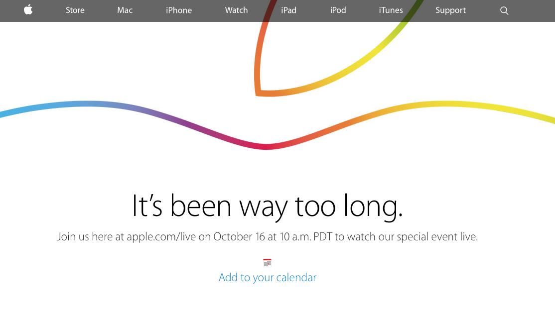 10月17日午前2時(日本時間)のAppleのスペシャルイベントで何が発表されるか