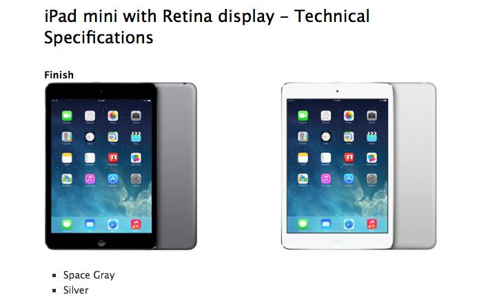 Apple、iPad mini Retinaディスプレイの呼称をiPad mini 2に変更