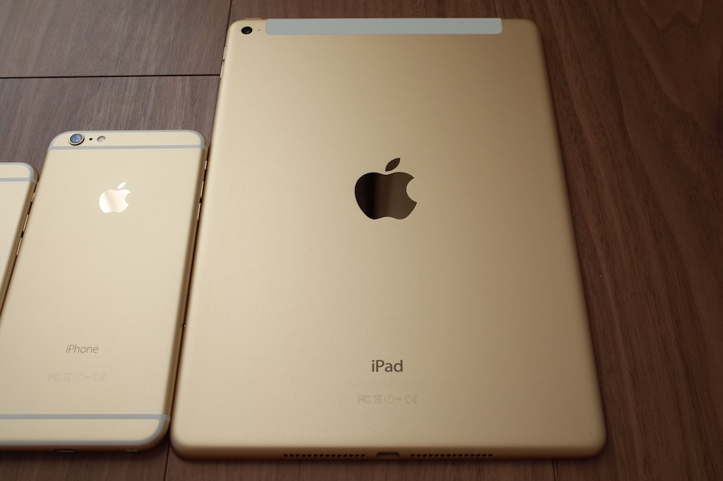 iPad Air 2のゴールドとiPhone 6・iPhone 6 Plusのゴールドとの統一感ハンパない (写真あり)