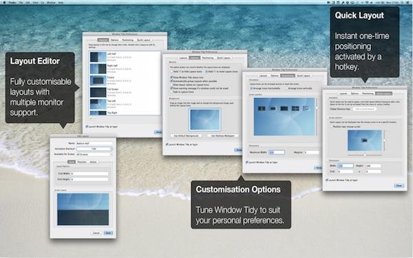Mac用ウインドウ拡張アプリ「Window Tidy」のバージョン2.1.1がリリース。El Capitan対応