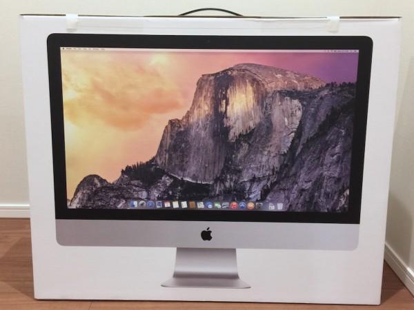 27インチ iMac Retina 5K ディスプレイモデルを買って記念撮影しよう