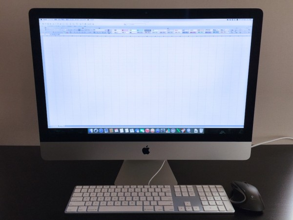 Microsoft ExcelがiMac Retina 5Kディスプレイモデルで超快適に使える!