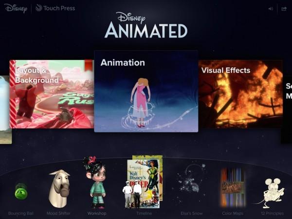 ディズニーのアニメーションの秘密を解説したiPadアプリ「Disney Animated」が半額にて販売中