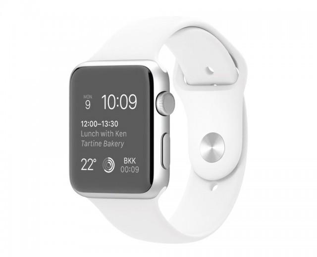 予約完了!Apple Watch Sport 42mmシルバーアルミニウムケースとホワイトスポーツバンド