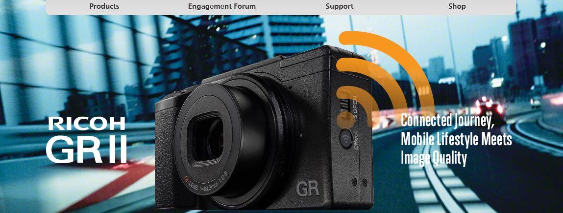 リコー、「GR II」を発表 ~ Wi-FiとNFCを搭載しモバイルデバイスとの親和性を高めた