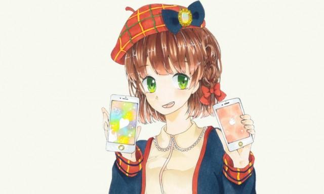 「オーケーマック」2015年8月のイラストは「アイスをかじる女の子」