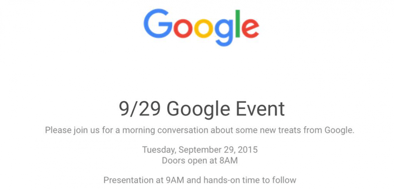 Google、9月29日に新しいNexusの発表会を実施