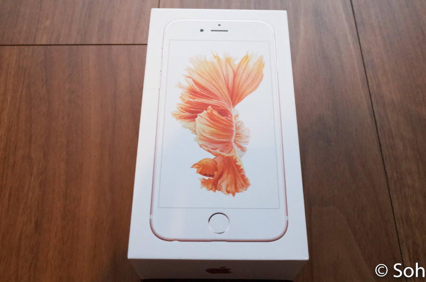キター! iPhone 6s ローズゴールドを開封してみました
