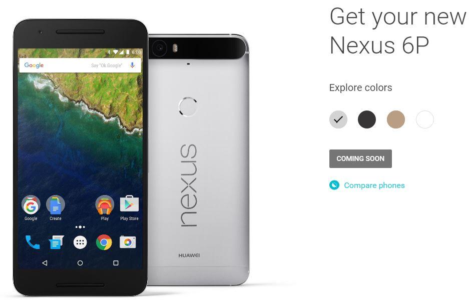 Google、新しいスマートフォン「Nexus 5X」「Nexus 6P」を発表