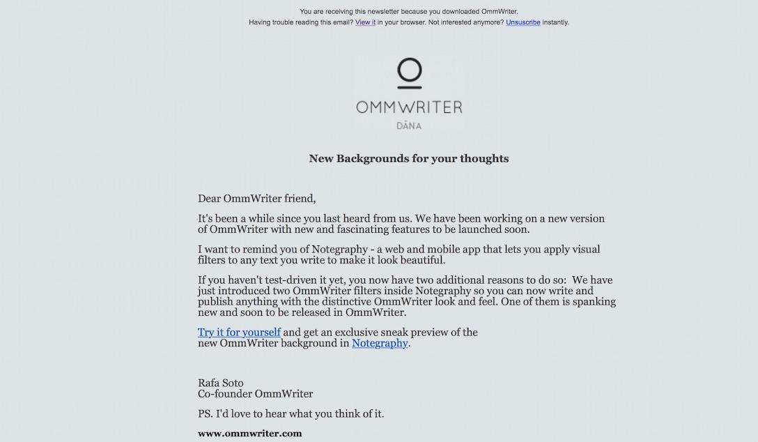 OmmWriterの新バージョンが開発中