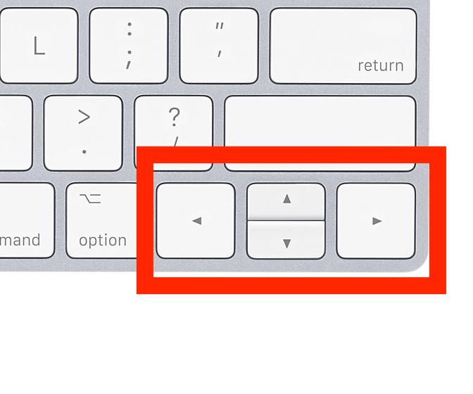 Magic Keyboard (テンキー無し)のカーソルキー