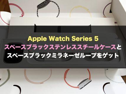 Apple Watch Series 5 スペースブラックステンレススチールケースとスペースブラックミラネーゼループをゲット