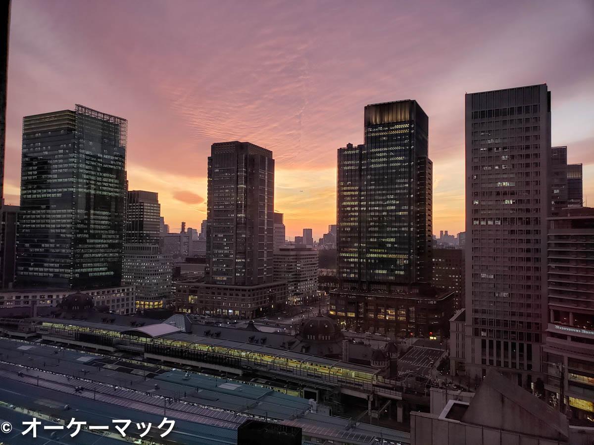 Galaxy S9 で撮影した夕暮れ