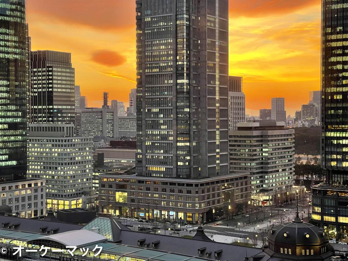 iPhone 12 Pro Max で撮影した夕暮れ(望遠)