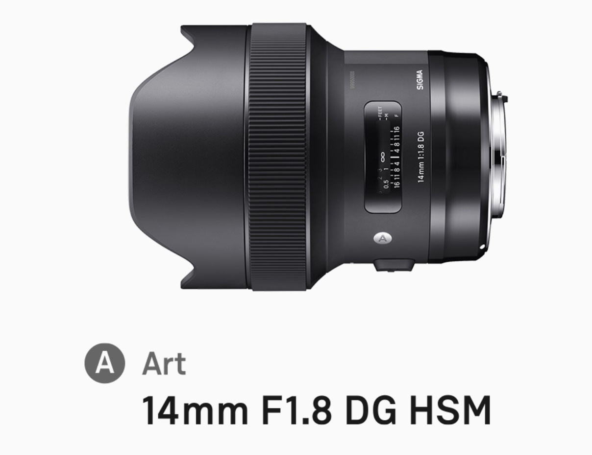 SIGMAの14mm F1.8 DG HSM | Art