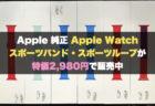 Apple 純正 Apple Watch スポーツバンド・スポーツループが特価2,980円で販売中
