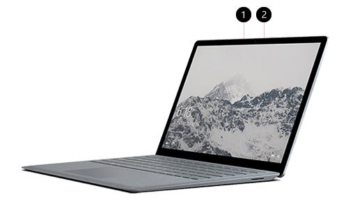 Surface には Windows Hello 対応カメラがついている
